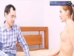 Blonde slut babe fucking her ex BF in front of newBF