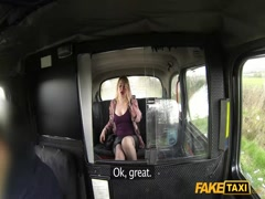 Curly blonde fucking hard in fake taxi