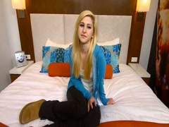 Fucking Blonde Girl In Hotel