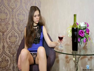 Sexy girl have drinking alone