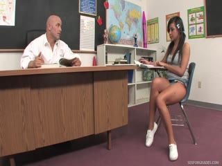 Naughty Schoolgirl Get Hard Lession