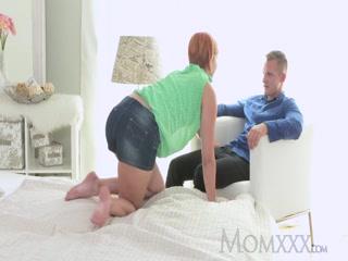 Horny stepmother slut gets fucking creampie good boy