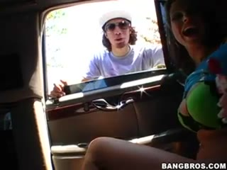 Amateur Couple Fuck In Car