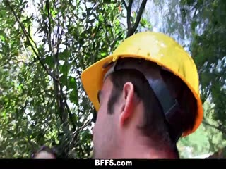 Naked Teens Fuck Construction Worker Outdoor