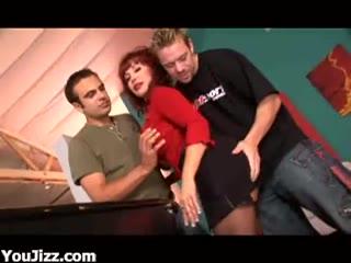 Mature Vanessa loving threesome fucking hard