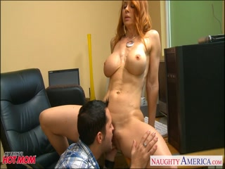Firm bodied redhead mother gets drill her pussy