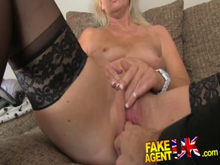 Mature MILF horny masturbating before sucking orgy fat dick