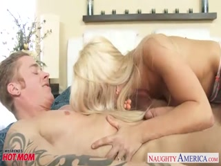 Tattooed lustful couple fucks hard in living room