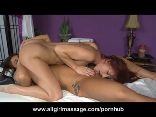 Horny lesbian couple loves licking pussy