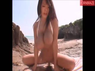 Busty Japanese slut oil up fucking hardcore