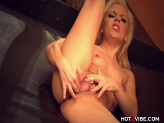 Sexy blonde chick slut taking cute toy into her cunt