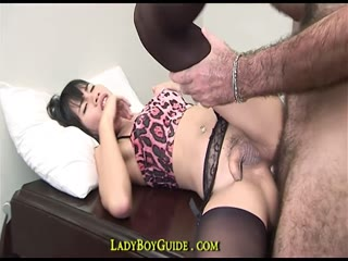 Thai Ladyboy Kitty gets nailed her tight ass - HD porn