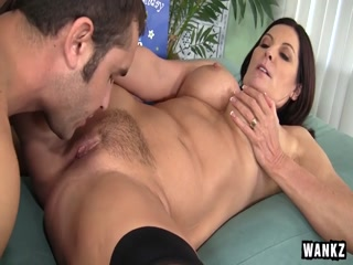 Lewd bitch mom MILF gets nailed her pussy by step son - HD porn