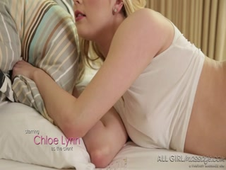 Chloe's massage gift turns in to a sexy lesbian experience