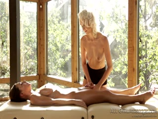 Abigail receives a special tantric massage from sexy blonde