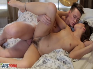 Babe Cute Babe Girl gets her unshaved pussy slammed really hard