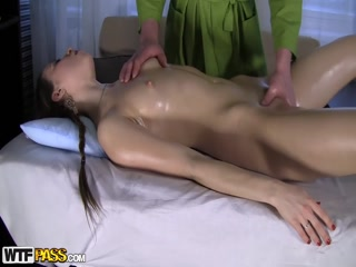 Perfect pigtailed Cool Girl screwed during relaxing Massage Orgams Babe - HD Porn