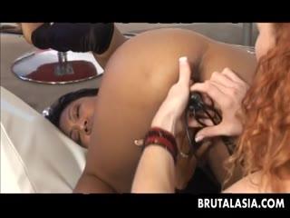 Ebony Girl Uses A Massive Dildo Then Fingering fucked orgy - HD Porn