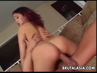 Horny Asian bitch slut gets fucked by a white dick - HD Porn