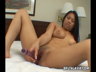 Amazing Thai Angel solo toyfucks with silicon dildo - HD Porn