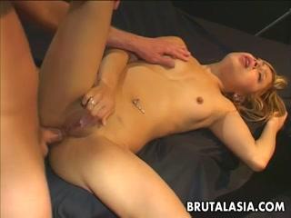 Dirty Little Blonde Gets Boned In Her Backdoor