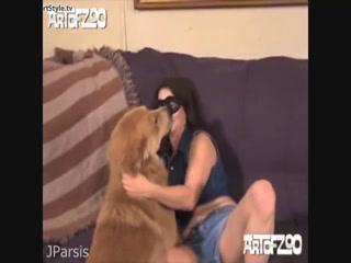 Horny girl fucking a dog orgy - Dog sex HD