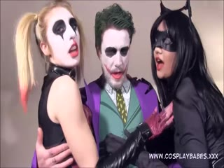 Threesome with Harley and Catwomen enjoy sex together - HD Porn