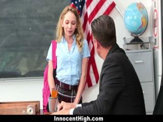 Skinny blonde school girl fucked by the teacher - HD Film | Pornbraze.com