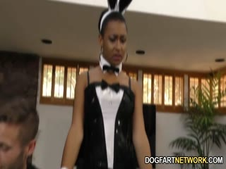 Ebony bunny Jazzy goes on her knees for white guys - HD Video | Pornbraze.com