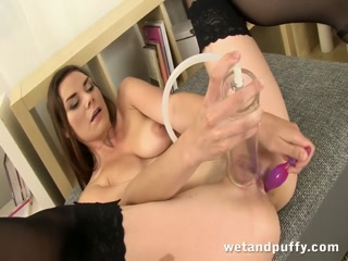 Lovely girl plays with a pussy pump - HD Film | Pornbraze.com