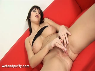 European with big boobs fucks a glass dildo - HD Video | Pornbraze.com