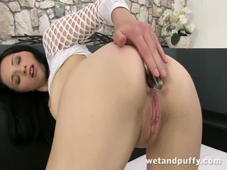 Brunette cutie plays with her sweet twat - HD Film   Pornbraze.com