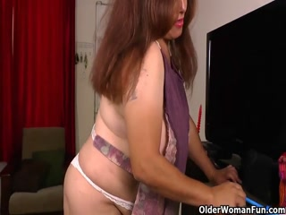Plump Housewife Strips And Masturbates To Orgasm