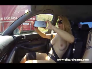 Flashing Naked in My Car Going to a Gangbang: Free Porn da