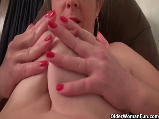Grandma Masturbates With A Big Ten Inch Dildo