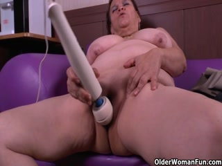 Fat Chick With Huge Tits Masturbates With A Vibrator.