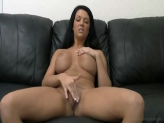 Big Titted Brunette Sucking A Cock And Getting Fucked