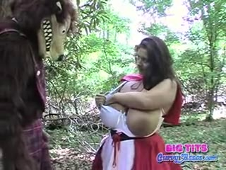 Maria Moore as Busty Red Riding Hood