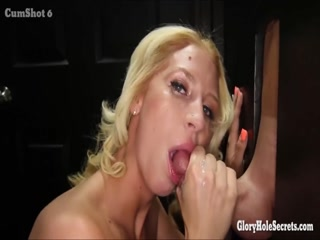 Blonde girl sees big cock in the dark