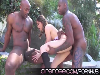 Airerose Riley Reid gets nailed hard by two BBC