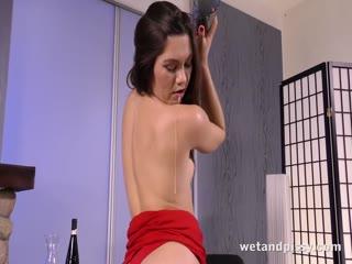 Nasty bitch drinks her own piss with joy - HD porn video | Pornbraze.com