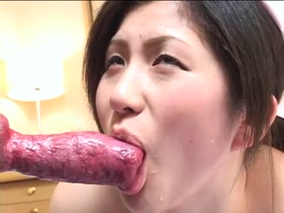Asian girl blowjob for neighbor dog