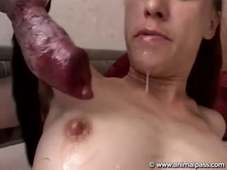 2 Lustful Girl Together Sex With Dog