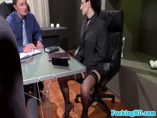 Bukkake at the business meeting - HD porn video | Pornbraze.com
