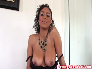 Busty ebony deepthroating and ballsucking - HD porn video | Pornbraze.com