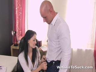 Belle enjoys her new office job a lot - HD porn video | Pornbraze.com