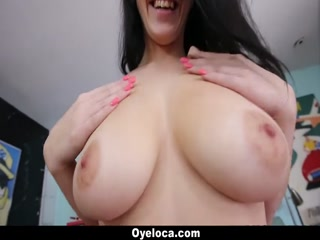 Sliding his dick between Noelle's DD tits - HD porn video | Pornbraze.com