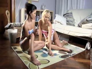Lesbians enjoy exploring each other - HD porn video | Pornbraze.com