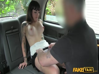 Playful young babe getting licked and fucked by a fake driver