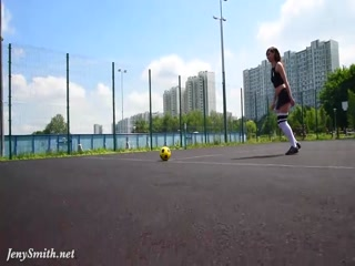 Jeny Smith playing some football - HD porn video | Pornbraze.com